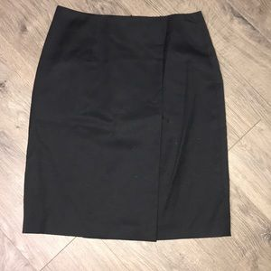 Brooks Brothers, Black Wool Skirt